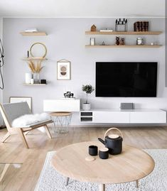 [New] The 10 Best Home Decor (with Pictures) - Simply stunning! Reposted from - Happy sunny sunday. Stunning living room inspiration from Such a cosy harmonic space with the light colors along with the light wood. Living Room Tv Unit, Small Living Rooms, Living Room Interior, Home Living Room, Home Interior Design, Living Room Designs, Living Room Decor, Elegant Home Decor, Living Room Inspiration