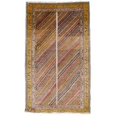 Tribal Turkish Yorok Vintag Rug | From a unique collection of antique and modern turkish rugs at https://www.1stdibs.com/furniture/rugs-carpets/turkish-rugs/