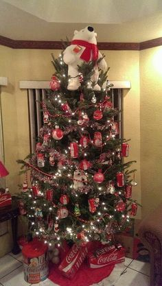 Colorful Child Friendly Christmas Tree Decorating Idea