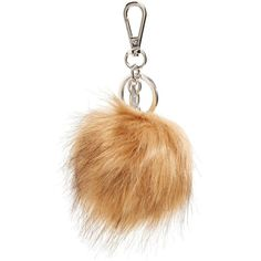 Women's Halogen Faux Fur Pom Bag Charm ($20) ❤ liked on Polyvore featuring accessories and tan hazel
