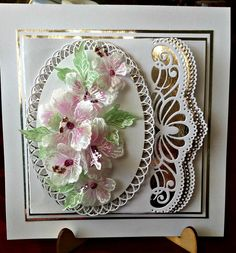 AbFab Designs, Heartfelt Creations, Card with flowers