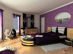 dark purple accent wall ideas for bedroom decorative bedroom