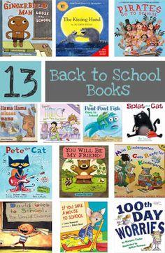 Great Books for Back to School. Books to read at the beginning of the school year. #backtoschool #school #schoolsupplies #preschool #kindergarten