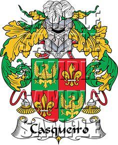 Casqueiro Family Crest apparel, Casqueiro Coat of Arms gifts