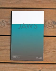 Graphic design inspiration Jaws from the Penguin Horror book series by Tom Lenartowicz, book design, movie poster, editorial design, movie Graphisches Design, Buch Design, Layout Design, Print Design, Clever Design, Good Design, Best Book Cover Design, Creative Book Covers, Ebook Cover Design