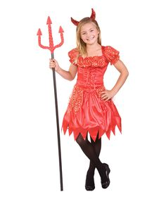 Look at this Red Glitter Devilina Dress-Up Outfit - Girls on #zulily today!