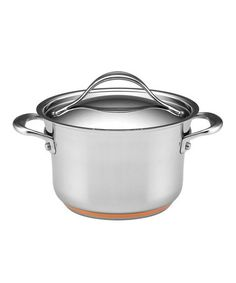 This Stainless Steel 3.5-Qt. Covered Sauce Pot by Anolon is perfect! #zulilyfinds