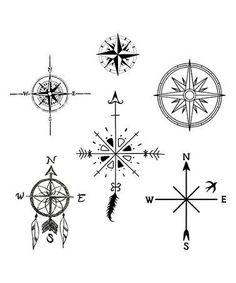 Resultado de imagen para compass tattoo