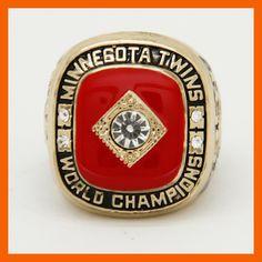 New Arrival 1991 Minnesota Twins world Championship Rings size 11 Men Jewelry