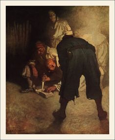 N.C. Wyeth illustration for the 1911 illustrated edition of Treasure Island
