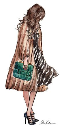 Fashion Illustration Color Leather bag