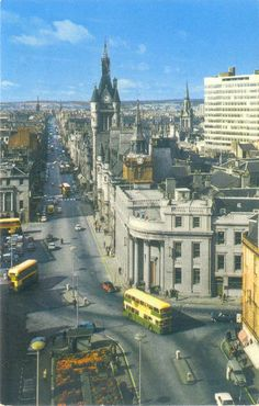 Aberdeen, Union Street 1960's, before the Castlegate was closed off to traffic.