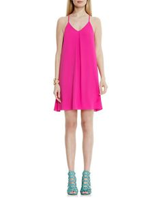 VINCE CAMUTO Tank Dress with Inverted Front Pleat