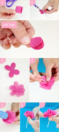 diy tissue paper flower steps