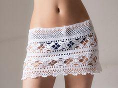 PATTERN Crochet beach skirt lacy skirt PDF by katrinshine on Etsy