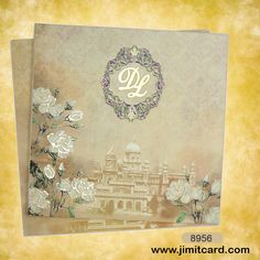 Wedding Card Sample, Royal Wedding Invitation, Scroll Wedding Invitations, Vintage Wedding Cards, Creative Wedding Invitations, Custom Invitations, Wedding Stationery, Invites, Royal Indian Wedding