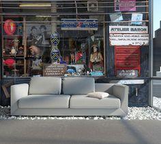 Chez moi c'est le bazar... ! / Revêtement mural. / Par Incréation.