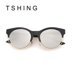 Mode date SIDERAL lunettes de soleil rondes femmes marque Designer Super Star Rihanna vêtements Vintage Cat Eye miroir lunettes de soleil femme