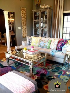 abode love: a man's home is his wife's castle: new rug details