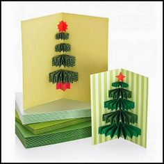 Cowie's Craft And Cooking Corner: 3-D Christmas Tree Card