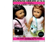 Just the pattern for my Dream outfit purse.  American Girl Doll Clothes pattern Urban Handbag Purse | Liberty Jane Doll Clothes Patterns For American Girl Dolls