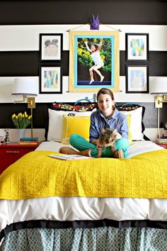 Dimples and Tangles: GIRL'S BOLD AND COLORFUL BEDROOM REFRESH