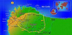 Mapa turistico Tourist Map, Maps, Cabo De La Vela