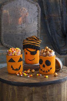 Ravelry: Halloween Jar Cozies pattern by Nancy Anderson