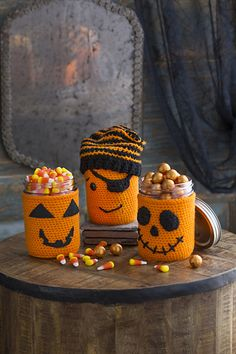 Ravelry: Halloween Jar Cozies pattern by Nancy Anderson