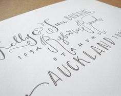Hand lettered envelope Bingham Layout by sarahdavisprints on Etsy