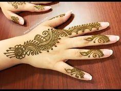 LEARN EASY ARABIC MEHENDI   SIMPLE ARABIC MEHNDI HENNA DESIGN - YouTube Mehendi Simple, Simple Arabic Mehndi, Arabic Henna Designs, Henna Designs Easy, Beautiful Henna Designs, Mehandi Designs, Simple Designs, Mehndi Video, Henna Mehndi