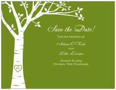 Front of Save the Date Postcard