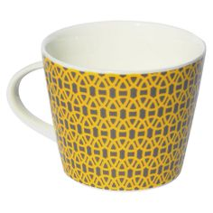 Buy Scion Lace Mug, 0.35L, Charcoal & Yellow Online at johnlewis.com