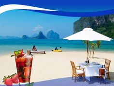 Beach and Enjoy Your Vacation PPT Backgrounds Enjoy Your Vacation, Summer Months, Holiday Backgrounds, Tourism, Patio, Nice, Beach, Outdoor Decor, Home Decor