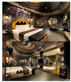 Batman themed bedroom decoration