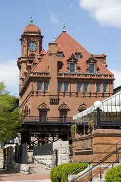 "Great view of the ""old train station clock tower"" in Richmond, Virginia pinned by Mary Ferguson"