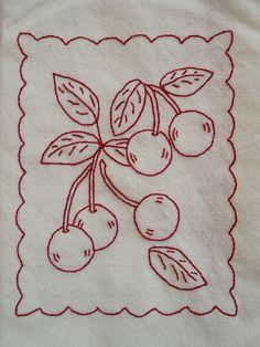 redwork AND cherries!