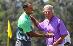 A couple of Masters champions Tiger Woods  & 'Gentle Ben' along with an up & coming young stud,Jordan Spieth (not pictured) played a practice round late Wednesday afternoon