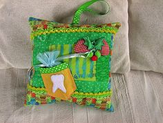 Tooth Fairy Pillow (I made with Tinkerbell fabric - too cute)