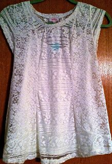 Pixley Carlie Mixed Lace Short Sleeve Shirt- kept!
