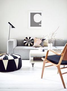 A beautifully accessorised room. Get the look with our floor lamp: http://www.mattblatt.com.au/Floor-Lamps/Replica-AJ-Floor-Lamp.aspx?p3177c5#3179