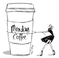 Monday Coffee by Megan Hess (meganhess.com/)