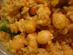 Caribbean Coconut Rice with Garbonzos and Veggies Recipe