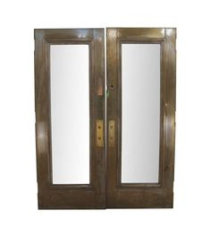 Antique 1 Lite Brass Commercial Double Doors 83 x 62.5 Arched Doors, Panel Doors, Entry Doors, New York City Buildings, Antique Interior, Antique Doors, Pocket Doors, Closet Doors, Double Doors