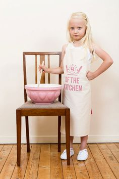girls and boys cotton aprons. kids and childrens accessories. one size. three print designs.