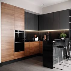 ZenQ Home Decor - Everything Your Home Needs in One Place Modern Kitchen Cabinets, Kitchen Cabinet Design, Modern Kitchen Design, Kitchen Shop, Kitchen Decor, Küchen Design, Interior Design, Black Kitchens, Led