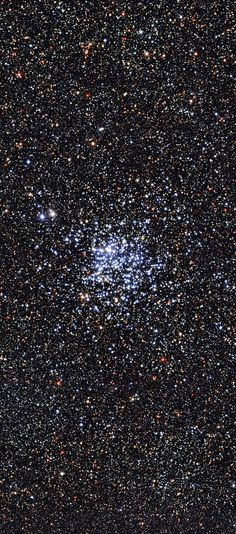Wild Duck Cluster (Messier 11) ~ Open cluster or galactic cluster, located around 6000 light-years away in the constellation of Scutum (The Shield). The Wide Field Imager on the MPG/ESO 2.2-metre telescope at ESO's La Silla Observatory in Chile has taken this beautiful image, dappled with blue stars, of one of the most star-rich open clusters currently known, being almost 20 light-years across and home to close to 3000 stars. (ESO)