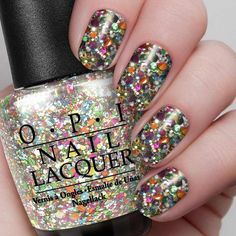 """This polish is literally PERFECT for a New Year's nail because it simply LOOKS like confetti and fun. And the name is """"Chasing Rainbows"""", and how most polishes are named, that's amazing. What do you think of the polish? Comment down below!"""