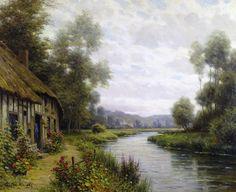 Louis Aston Knight  (1873 - 1948)  Maisonette a Cote de Riviere