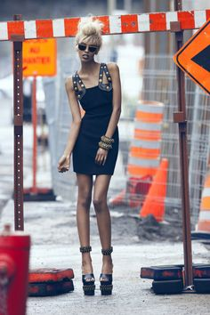 Grace Mahary by Max Abadian for Dressed To Kill Magazine, July 2012 ~ Styling: Cary Tauben ~ Fashion Editor: Cary Tauben ~ Beauty: Nicolas Blanchet